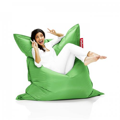 Fatboy Nylon Fabric Bean Bag Chair - Grass Green