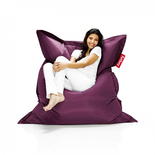 Fatboy Nylon Fabric Bean Bag Chair - Dark Purple