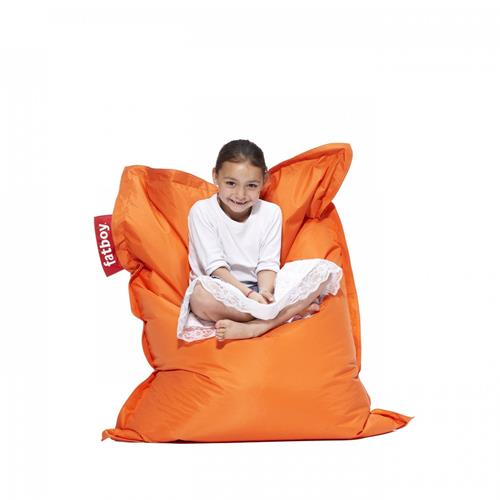 Fatboy Nylon Fabric Bean Bag Chair - Orange