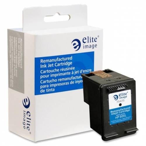 Elite Image Remanufactured High Yield Ink Cartridge Alternative For HP 60XL (CC641WN)