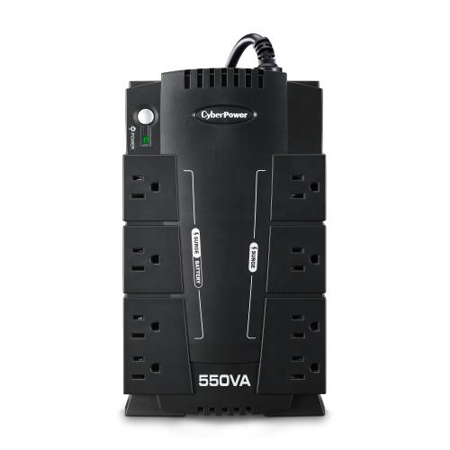 "CYBERPOWER 550VA UPS RJ11 USB 8OUT ""GREE"