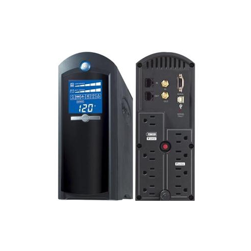 CyberPower 1350 VA 810 Watts 8 Outlets Intelligent LCD UPS (CP1350AVRLCD)