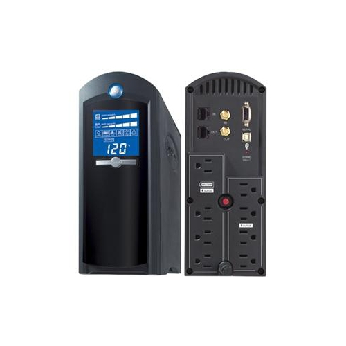 CyberPower 1500 VA 900 Watts 12 Outlets Intelligent LCD UPS (CP1500AVRLCD)