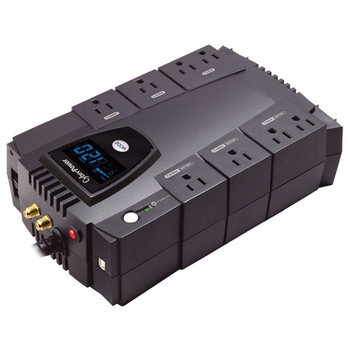 CYBERPOWER 825VA W/LCD 8OUT USB/RJ11/45