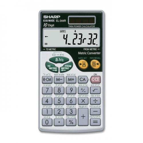 Sharp EL344RB Metric Conversion Travel Calculator