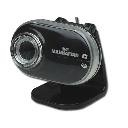Manhattan Mega Cam 460477 Webcam - 1.3 Megapixel - 10 fps - Black - USB 2.0