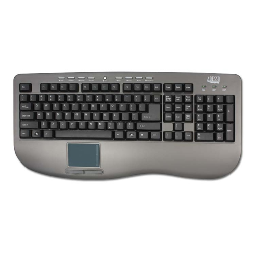 Adesso Wired Keyboard with Built-In Touchpad -