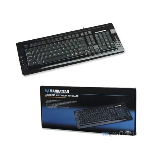 Manhattan Advanced Multimedia USB Keyboard with Scissor Keys