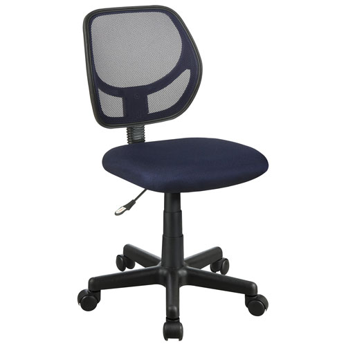 milbrook mesh task chair navy blue office chairs best buy canada. Black Bedroom Furniture Sets. Home Design Ideas