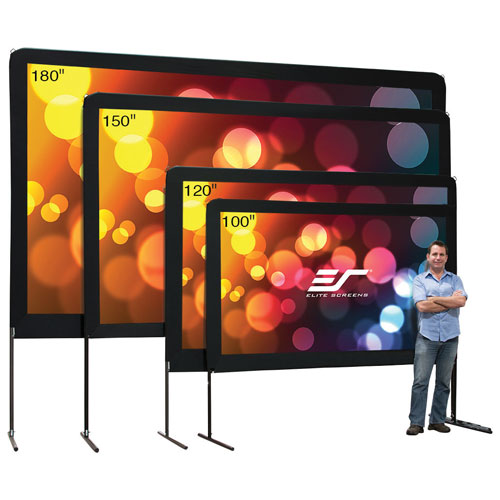 "Elite Screens Yard Master Series 100"" 16:9 Portable Outdoor Projector Screen"