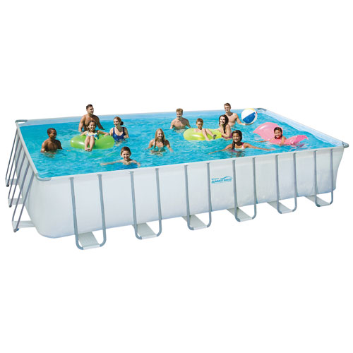Summer Waves Elite Above Ground Rectangular Pool - 24ft x 12ft x ...