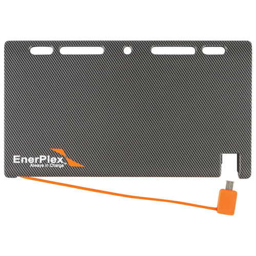 Chargeur portable Jumpr Slate 5K 5100 mAh d'EnerPlex (JU-SLATE-5K) - Gris-orange
