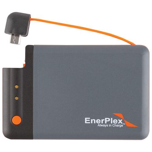 Chargeur portable de 1700 mAh Jumpr Mini d'EnerPlex (JU-MINI-GY) - Gris-orange