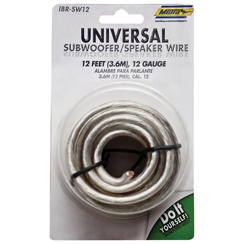 Câble de haut-parleur de 12 pi de calibre 12 de Metra (IBR-SW12)