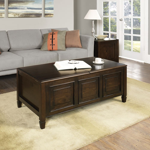 table basse traditionnelle rectangulaire connaught marron fonc tables basses best buy canada. Black Bedroom Furniture Sets. Home Design Ideas