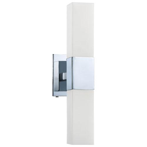 Aurora Lightning 2-Light Bath Vanity - White Glass/Chrome (ECT-KD010937)