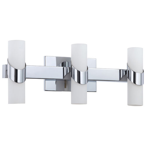Aurora Lightning 6-Light Bath Vanity - White Glass/Chrome (ECT-KD012306)