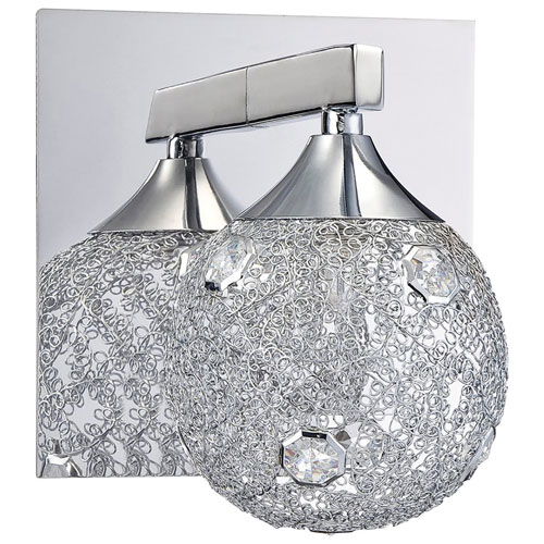 Bath Vanity Wall Fixture - Decorative Mesh/Chrome