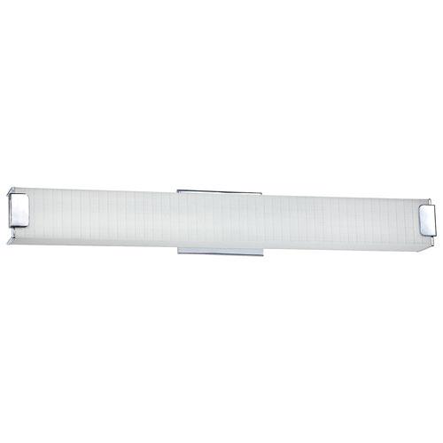 Aurora Lightning 6-Light Bath Vanity - Linen Glass/Chrome (ECT-KD010500)