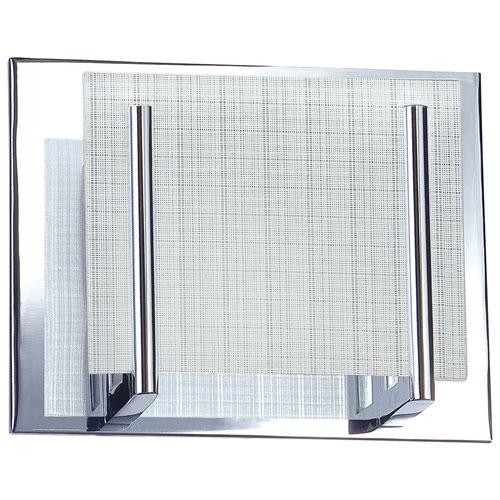 Aurora Lighting Single-Light Bath Vanity - Linen Glass/Chrome