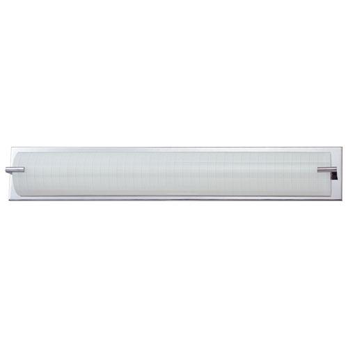 Aurora Lighting 5-Light Bath Vanity - Linen Glass/Chrome