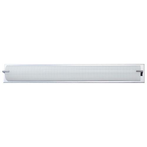 Aurora Lightning 6-Light Bath Vanity - Linen Glass/Chrome (ECT-KD010647)