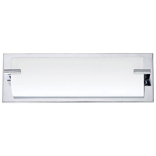 Luminaire de salle de bain mural à 3 ampoules - Blanc - Chromé
