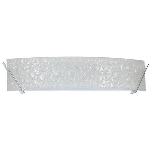 Aurora Lightning 4-Light Bath Vanity - Curved Bubble Glass/Chrome