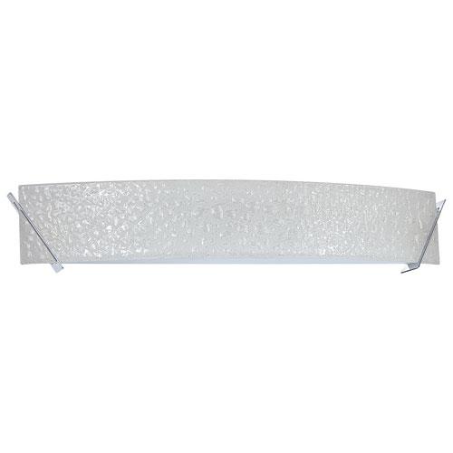 Aurora Lightning 5-Light Bath Vanity - Curved Bubble Glass/Chrome