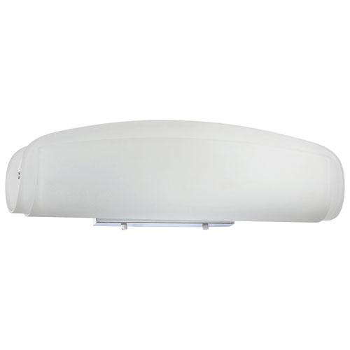 Luminaire de salle de bain à 3 ampoules d'Aurora Lighting - Verre givré - Chromé