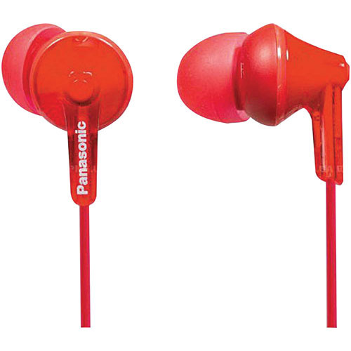Panasonic Ergo Fit In-Ear Sound Isolating Headphones - Red