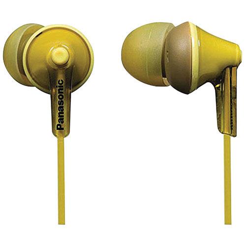 Écouteurs bouton à isolation sonore Ergo Fit de Panasonic - Jaune