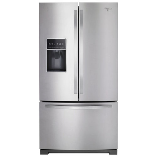 "Whirlpool 36"" 27 Cu. Ft. French Door Refrigerator with Ice & Water Dispenser - Stainless Steel"