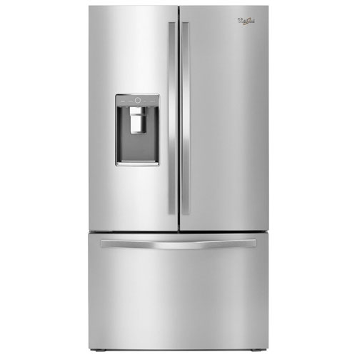 "Whirlpool 36"" 31.5 Cu. Ft. French Door Refrigerator with Ice & Water Dispenser - Stainless Steel"