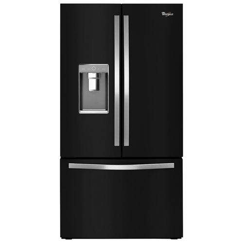"Whirlpool 36"" 31.5 Cu. Ft. French Door Refrigerator with Ice & Water Dispenser - Black Ice"