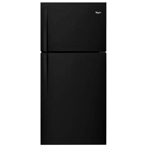 """Whirlpool 30"""" 19.2 Cu. Ft. Top Freezer Refrigerator (WRT519SZDB) - Black"""