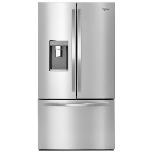 "Whirlpool 36"" 31.5 Cu. Ft. French Door Refrigerator with Ice & Water Dispenser - Monochromatic Stainless Steel"