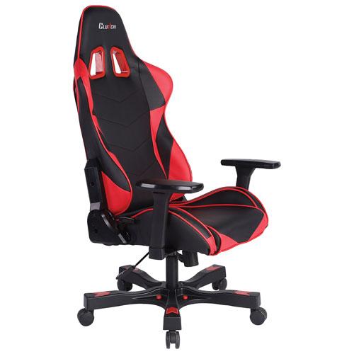 Clutch Chairz Crank Charlie Ergonomic Racing Gaming Chair - Red/Black