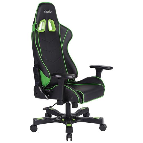 Chaise de jeu Delta de la collection Clutch Chairz Crank - Vert-noir
