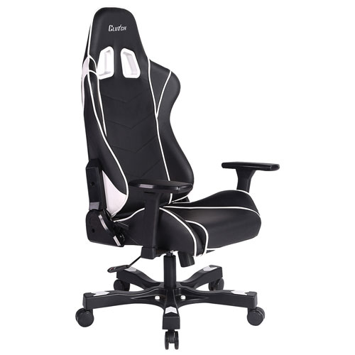 Clutch Chairz Crank Delta Ergonomic Racing Gaming Chair - White/Black