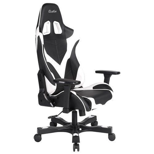 Clutch Chairz Crank Echo Gaming Chair White Black Gaming Chairs Best Buy Canada