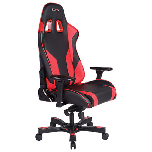 Clutch Chairz Throttle Echo Ergonomic Faux Leather Racing Gaming Chair - Red/Black