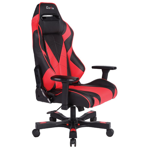 Clutch Chairz Gear Bravo Faux Leather Gaming Chair - Red/Black