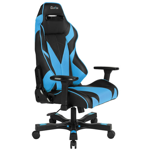 Clutch Chairz Gear Bravo Faux Leather Gaming Chair - Blue/Black