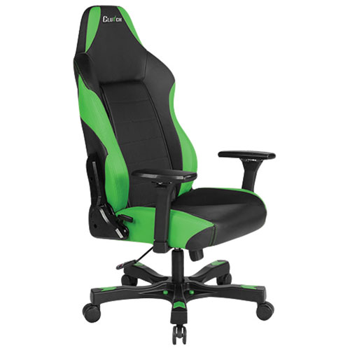 Clutch Chairz Shift Alpha Faux Leather Gaming Chair - Green/Black