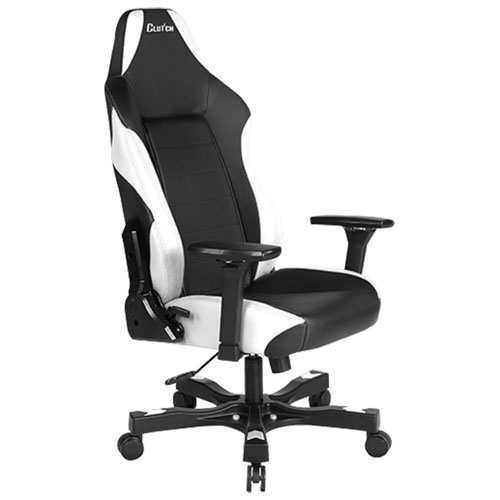 Clutch Chairz Shift Alpha Faux Leather Gaming Chair - White/Black