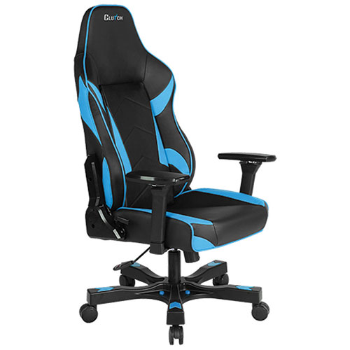 Clutch Chairz Shift Bravo Faux Leather Gaming Chair - Blue/Black