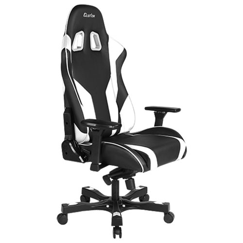 Clutch Chairz Throttle Echo Ergonomic Faux Leather Racing Gaming Chair - Black