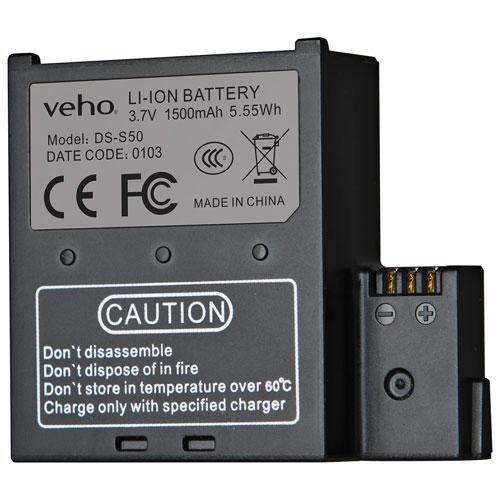 Batterie de rechange pour caméra MUVI K de Veho (VCC-A034-SB)