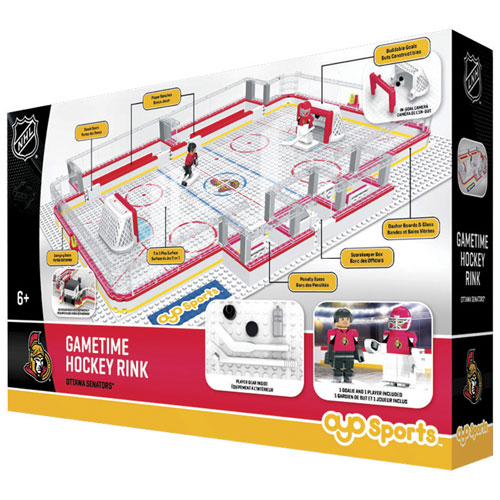 Ottawa Senators OYO NHL GameTime Hockey Rink Full Building Block Set